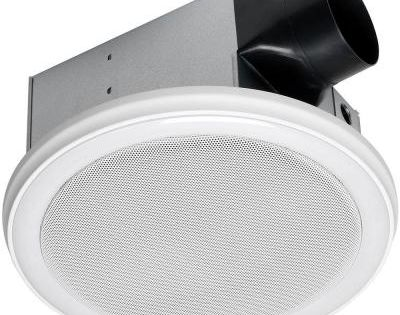Home netwerks decorative white 90 cfm bluetooth stereo speaker bath fan with led light 7130 02 - Bathroom fans at home depot ...
