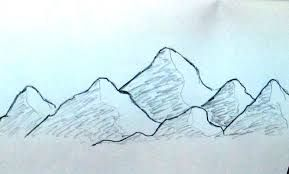 How To Draw Mountains Google Search Landscape Drawing Easy Easy Drawings Easy Scenery Drawing