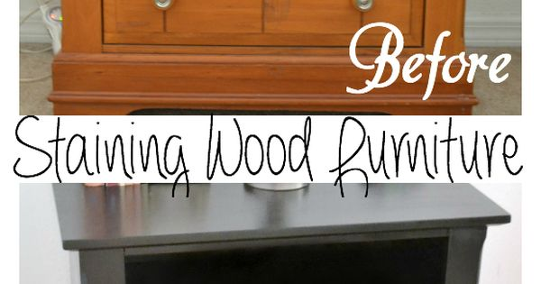 How I updated my bedroom furniture for $40. How to stain wood