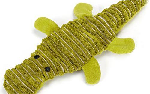 Grriggles Unstuffies Big Squeak Dog Toys Small Alligator 15