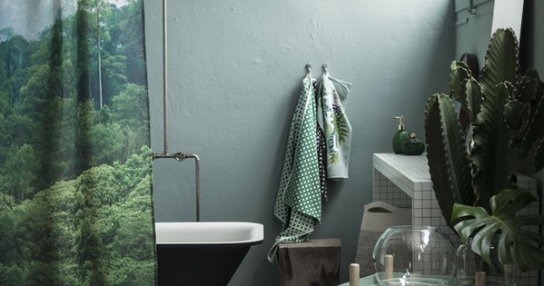 ambiance tropicale dans la salle de bain love urban jungle pinterest les salles de bain. Black Bedroom Furniture Sets. Home Design Ideas