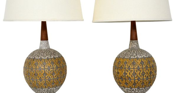 Raymor Ceramic Table Lamps