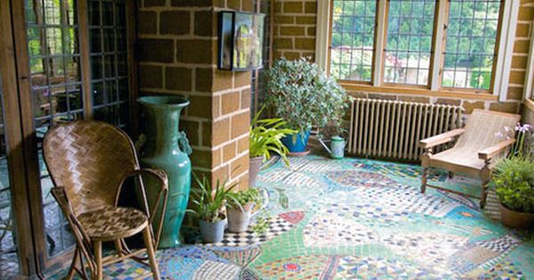 Wow! Dig that mosaic tile floor! I would SO do this to