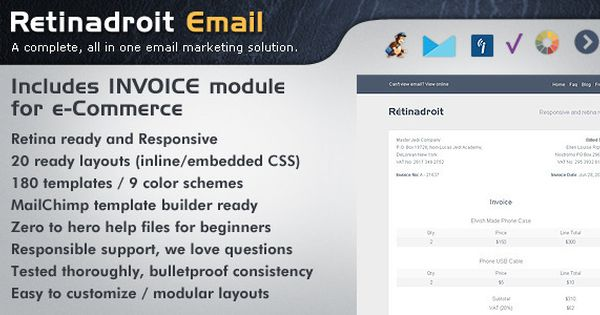 Download Free Responsive Email Template Amp Invoice Template