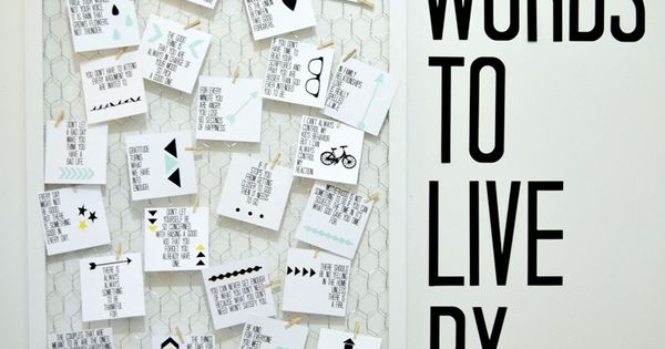 DIY Words To Live By Quote Board + Free Printables