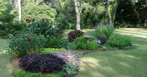 design an island bed yards front yards and lawn