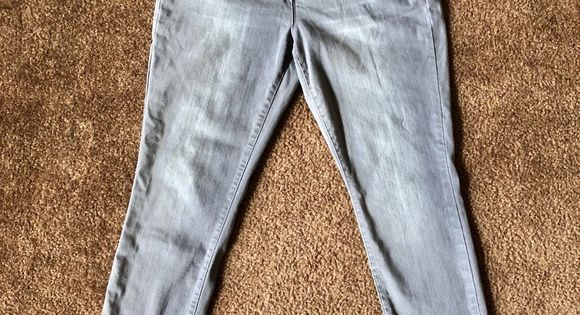 Miss Poured In Blue Gray Skinny Jeans Size 12 Grey Skinny Jeans Blue Fashion Skinny Jeans