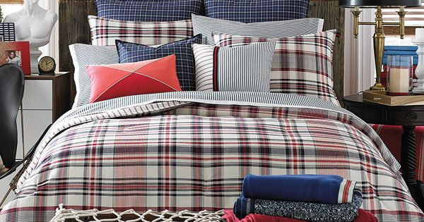 Tommy Hilfiger Vintage Plaid Twin Comforter Set Bedding
