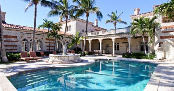 pooldesign-garten-luxus-haus-innenhof | luxus häuser | pinterest, Garten und bauen