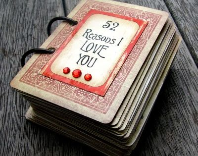 DIY Valentines Gift - Deck of Love Cards. cute idea