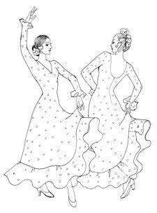 Raquel Lopez Flamenco Costume Designs Flamenco Coloring Pages