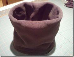 Double Layered Neck Warmer Tutorial Fleece Neck Warmer Knitting