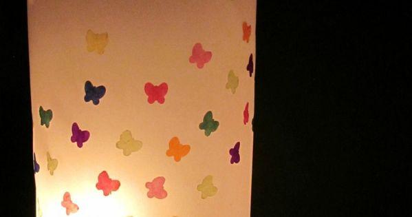 Last Minute Laterne mit Schmetterlingen I Last Minute Lantern with Butterflies
