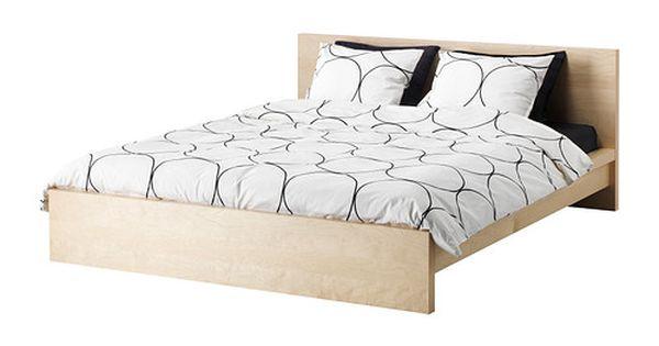 Malm bed frame birch veneer full so i can graduate - Letto nordli ikea ...