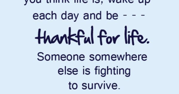 thankful for life quote