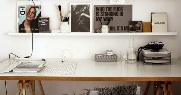 Inspiratie tegen de muur op kantoor kantoor pinterest muur inspiratie en kantoor aan huis - Kantoor deco ...