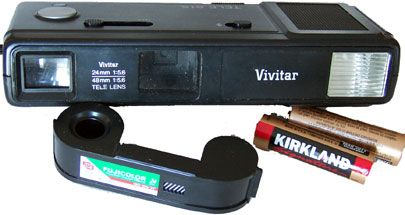 Vivitar Tele815 With The 110 Film And Costco Batteries Baby