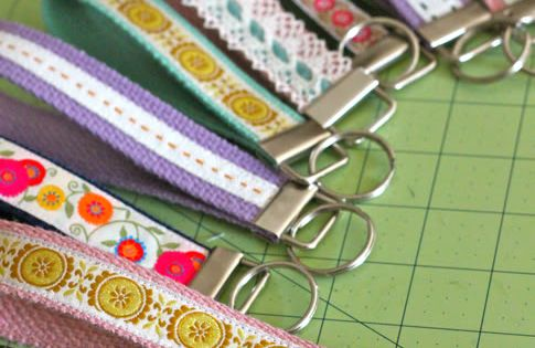 Ribbon key chains - craft idea for adolescent patients.