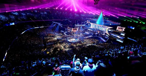 Wwe wrestlemania 30 stage wwe pay per views pinterest for Mercedes benz superdome wrestlemania 30