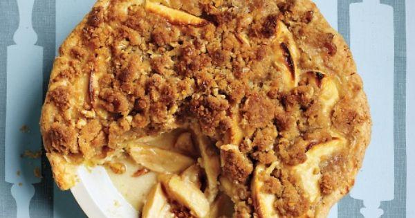 Apple-Sour Cream Crumb Pie Recipe | Martha Stewart apples pie Thanksgiving apple_pie