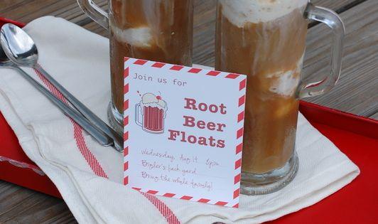 Root beer float party invite (free printable) | Birthdays ...