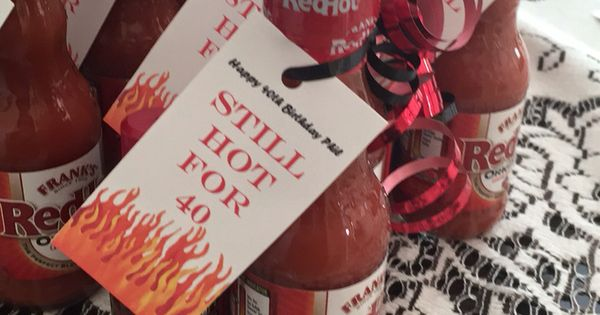 Superb 40Th Birthday Favors Too Hot For 40 Hot Sauce Hot Personalised Birthday Cards Cominlily Jamesorg