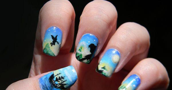 79 Wonderful Disney Nail Art Designs peterpan neverland nailart