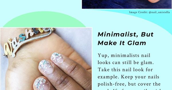 Rhinestonenailart Minimalistnailart Nailartdesigns Rhinestonemani Personality Inspir With Images Classy Nail Art Ideas Rhinestone Nails Nails Design With Rhinestones