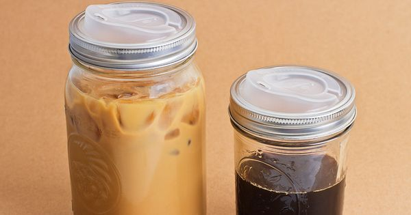 Cuppow Canning Jar Lid. Turn mason jars into travel mugs.