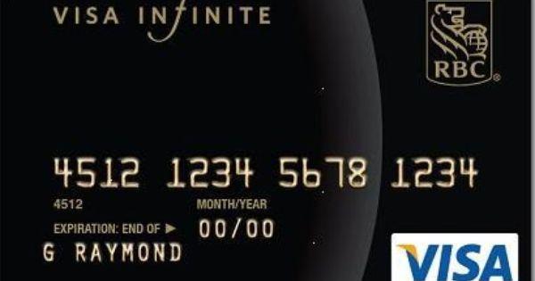 Rbc Royal Bank Visa Infinite Avion Card With Images Credit