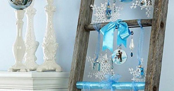 Super idee met een houten trap decoratie pinterest houten trap kerst en houten ladder - Decoratie montee d trap ...