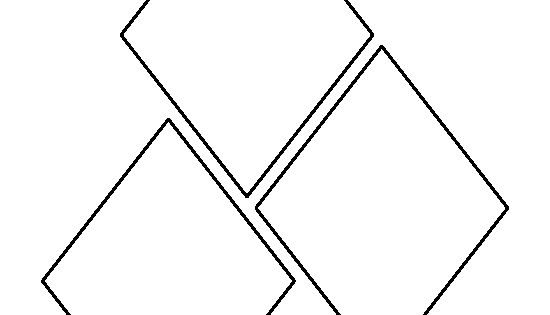 5 Inch Diamond Pattern. Use The Printable Outline For