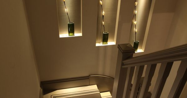 Stripped stair runner and lit niches john cullen corridors - Iluminacion escaleras interiores ...