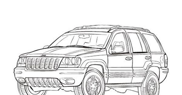 Jeep Grand Cherokee Cars coloring