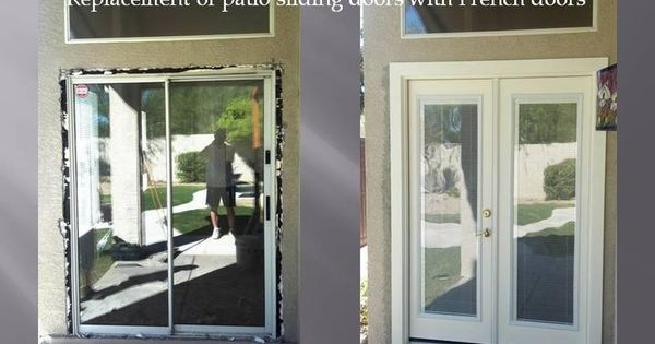 Removing patio sliding door and installing french doors for French doors no glass