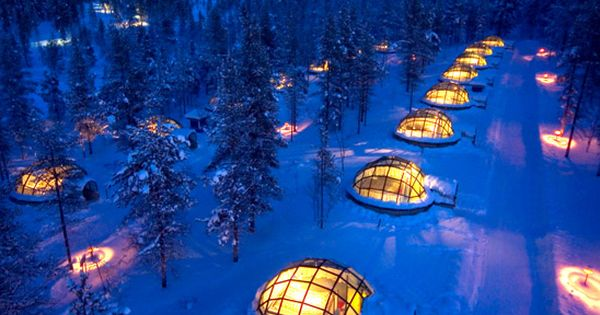 Hotel & Igloo Village Kakslauttanen, Saariselkä, Finland Best place to see the