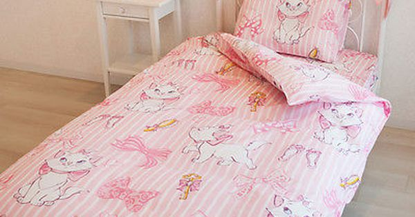Disney Aristocats Marie Bed Bedding Cover Pillow Sheets 3pcs Set Pink Single New Beautiful Bedding Sets Bed Linens Luxury Bed