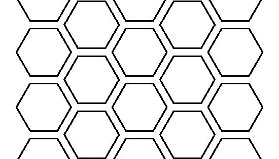 1 Inch Hexagon Template For Quilting 1 Inch Hexagon
