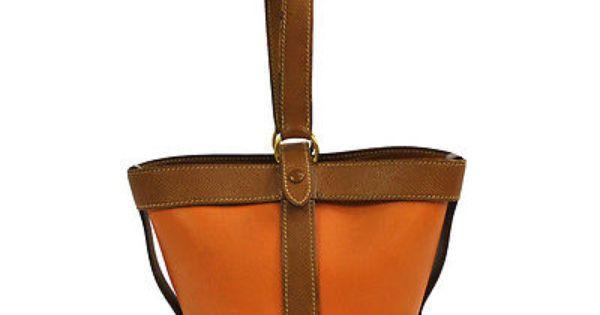 hermes kelly - Auth hermes museliere orange brown leather mini hand bag vintage ...