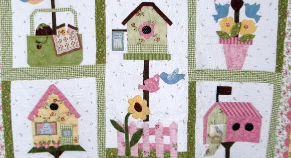 Edred n casa para p jaros finalmente termin patchwork - Patrones casas patchwork ...