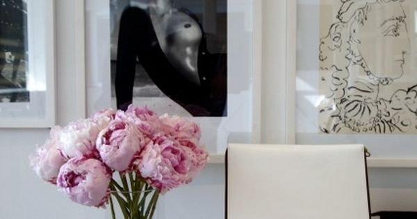 black & white gallery wall with white frames