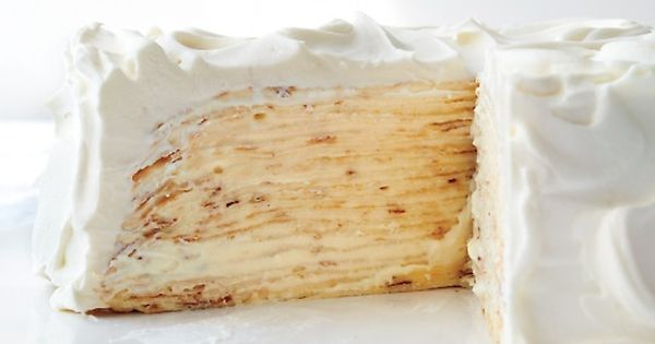 Lemon-Mascarpone Crepe Cake - the crepes and lemon curd can both be