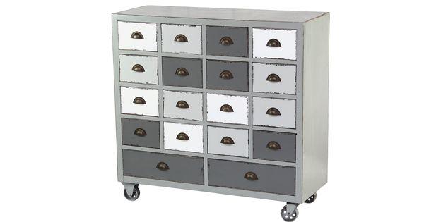 Tony mueble de almacenamiento de dise o industrial con - Muebles de diseno industrial ...