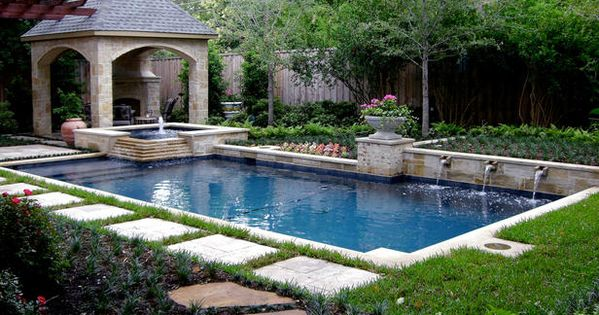 Pool House With Fireplace Design Ideas, Pictures, Remodel and Decor