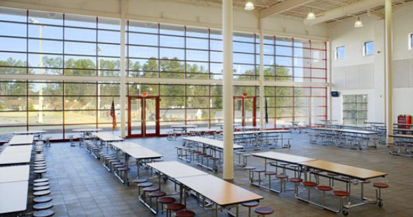 Look At The Use Of Natural Light In This Cafeteria Wow Eco Friendly Way To Light The Room You Can Save So Much Green School Fluorescent Light Hydro Electric