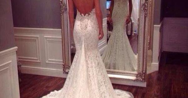 Lace Wedding dress Open Back Wedding Dress Boho by StunningDress, $289.99 BEAUTIFUL❤️❤️