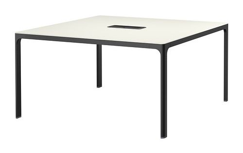 bekant conference table white black 140x140 cm salles de. Black Bedroom Furniture Sets. Home Design Ideas