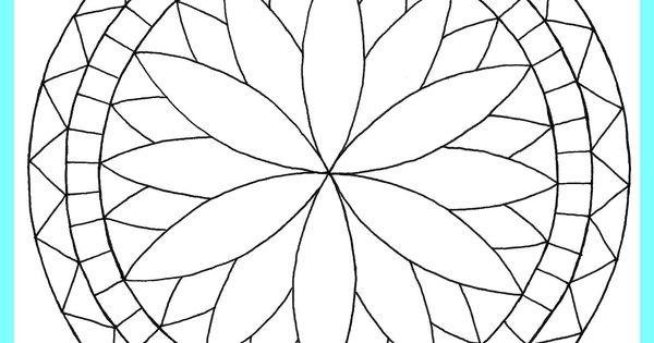 comment dessiner des rosaces rosaces pinterest coloriage de mandala coloriage et coloriage de. Black Bedroom Furniture Sets. Home Design Ideas