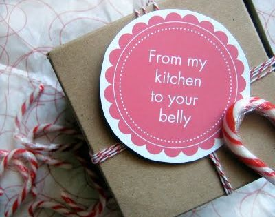 Free printable - food gift tags