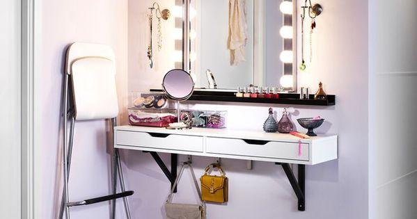 un coin beaut pour tre la plus belle se maquiller assises et beaut. Black Bedroom Furniture Sets. Home Design Ideas